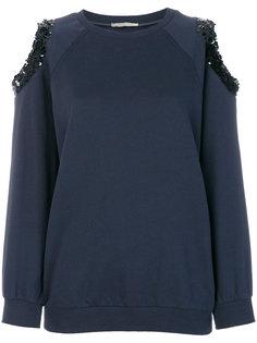 свитер с прорезями с пайетками Nina Ricci