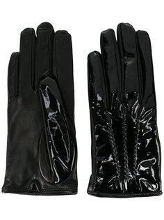 перчатки с декоративной строчкой  Mario Portolano