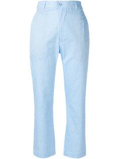 укороченные строгие брюки Julien David