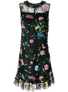платье Flossie с оборками и цветочной вышивкой Goat