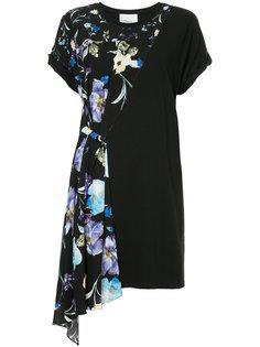 асимметричное платье-футболка с цветочным принтом 3.1 Phillip Lim