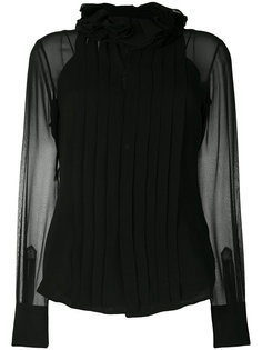 плиссированная блузка с оборкой  Ralph Lauren