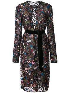 декорированный удлиненный пиджак Monique Lhuillier