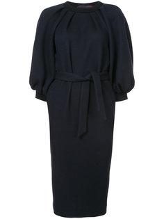 платье миди с буффами на рукавах Martin Grant