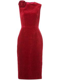 платье миди с украшением в виде розы Martin Grant