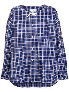 рубашка в клетку с завязками Comme Des Garçons Shirt