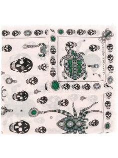шарф Jewelled Bug Alexander McQueen