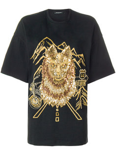 футболка с принтом волка Balmain