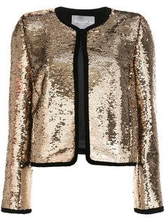 укороченный пиджак с пайетками Monique Lhuillier