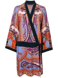 платье с принтом и запахом Etro