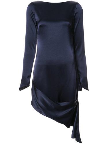 драпированное атласное платье  Osman