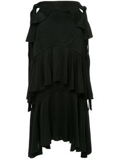 асимметричная юбка с рюшами Ellery