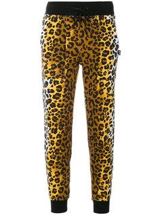 спортивные брюки с леопардовым узором Love Moschino