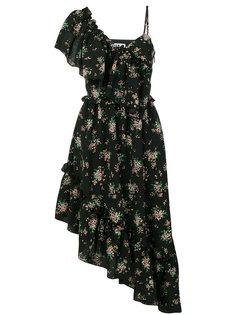 асимметричное платье с оборками MSGM
