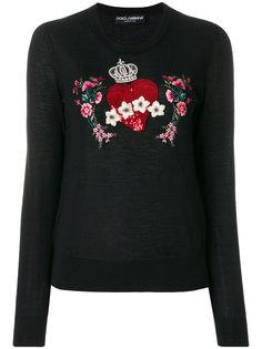 джемпер с заплаткой в форме сердца Dolce & Gabbana
