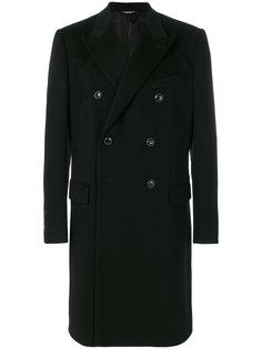 crest emblem double breasted coat Dolce & Gabbana