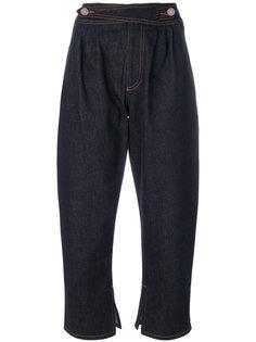 укороченные джинсы с перламутровыми бусинами Fendi