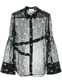 прозрачная рубашка  с цветочной вышивкой 3.1 Phillip Lim