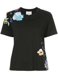 футболка с цветочной аппликацией  3.1 Phillip Lim