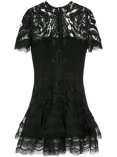 приталенное платье с кружевной отделкой Jonathan Simkhai