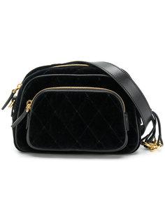 стеганая бархатная сумка на пояс  Prada