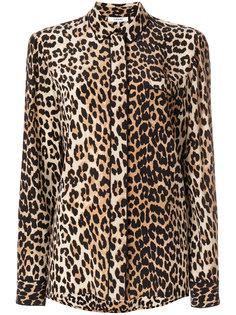 рубашка с леопардовм принтом  Ganni