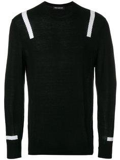 свитер с контрастными полосками Neil Barrett