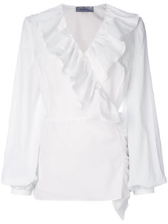 блузка с запахом и оборками Racil