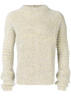 marled rib knit sweater Eckhaus Latta
