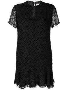 платье-мини с короткими рукавами Saint Laurent