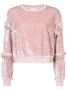 floral embroidered sweatshirt  Cinq A Sept