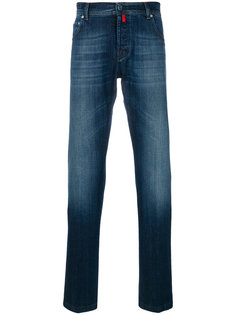 джинсы классического кроя  Kiton