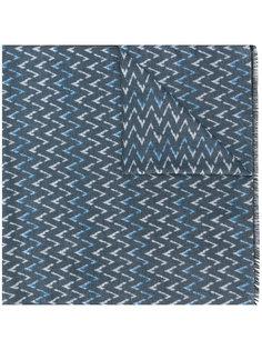 шарф с шевронным узором Kiton