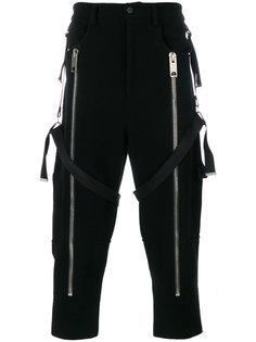 укороченные брюки с подтяжками Les Hommes