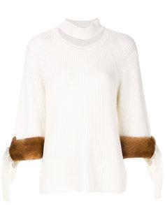 свитер с прорезью на горловине Fendi
