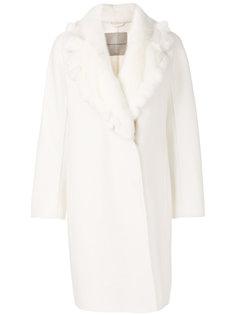 пальто с искусственным мехом  Ermanno Scervino