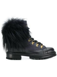 ботинки на шнуровке с помпонами  Ermanno Scervino
