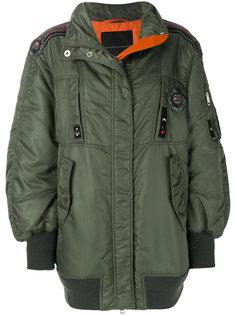 куртка-бомбер оверсайз с вышивкой  Ermanno Scervino