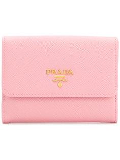 кошелек с бляшкой с логотипом Prada