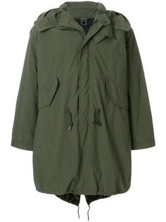 пальто милитари с капюшоном  Aspesi