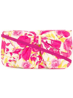 bow embellished clutch bag Lulu Guinness