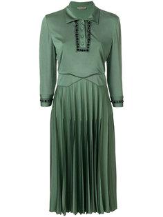 плиссированное декорированное платье  Bottega Veneta