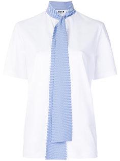 футболка с полосатым галстуком MSGM