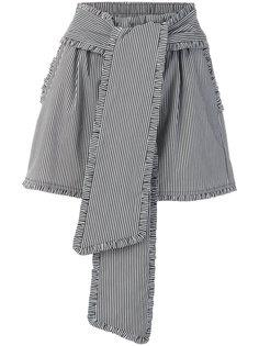 полосатые шорты с завышенной талией MSGM