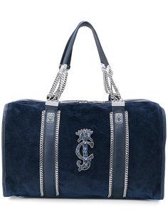 бархатистая сумка-тоут с отделкой  Juicy Couture