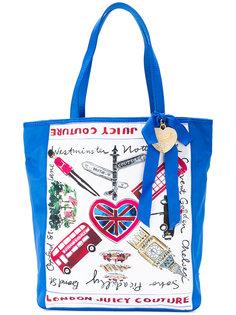сумка-шоппер с принтом London Juicy Couture