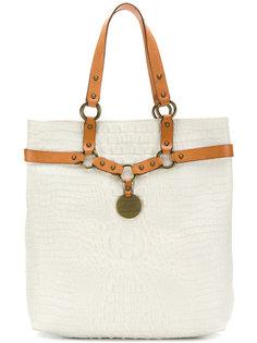 сумка-тоут с ремешками в стиле упряжи  Armani Collezioni