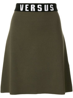 юбка А-силуэта с завышенной талией Versus