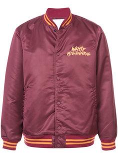 куртка-бомбер с принтом-логотипом White Mountaineering