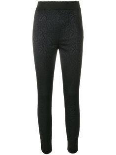 брюки скинни с цветочным узором Dolce & Gabbana